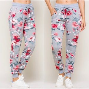 Pants - 🍁NEW🍁 Floral French Terry Jogger Pants